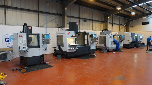 Four Haas CNC Machines